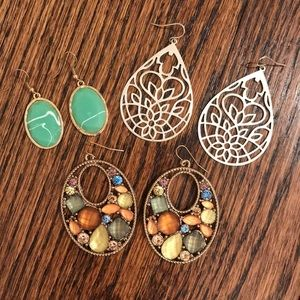 Jewelry - Set of 3 Beautiful Earrings